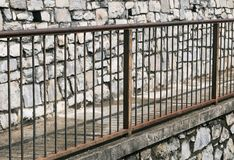 Trilhos oxidados Fotografia de Stock