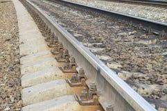 Trilhos railway de aço Fotografia de Stock