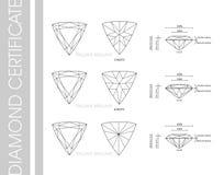 Trilione forme del diamante Fotografia Stock