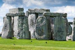 Trilithons de pedra maciços do local do patrimônio mundial de Stonehenge, Sali imagem de stock