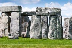 Trilithons de pedra maciços do local do patrimônio mundial de Stonehenge, Sali fotografia de stock
