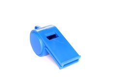Trill whistle. Blue Trill whistle on a white background Royalty Free Stock Photos