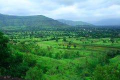 Trillend landschap Mahabaleshwar royalty-vrije stock foto's