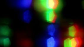Trillend LEIDEN licht bij nacht stock videobeelden