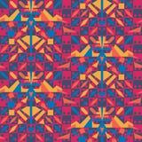 Trillend optische illusie naadloos geometrisch vectorpatroon met stammenelementen Het ontwerp van het oppervlaktepatroon stock illustratie