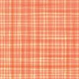 Trillend watercoloureffect plaidontwerp in tinten van kantaloepsinaasappel Naadloos vectorpatroon Hand getrokken borstelverf stock illustratie