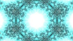 Trillende blauwe deeltjes royalty-vrije illustratie