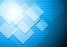 Trillende blauwe vectorachtergrond Stock Afbeelding