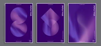 Trillende gradiëntachtergronden stock illustratie
