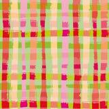 Trillende moderne grungecontrole in tropische kleuren Helder naadloos vectorpatroon met de zomer vibe Groot voor welzijn stock illustratie