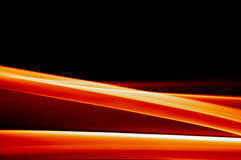 Trillende oranje achtergrond op zwarte Royalty-vrije Stock Fotografie