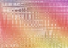 Trillende Pinks, Geel en Sinaasappelen Gestalte gegeven Samenvatting vector illustratie