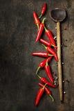 Trillende rode Mexicaanse hete Spaanse peperspeper Royalty-vrije Stock Foto