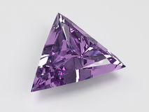 Trilliant amethyst stock photography