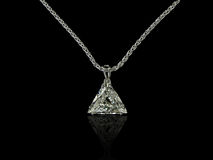 Trilliant diamond pendant Royalty Free Stock Images