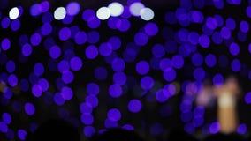 Trilling van lichten op stadium stock video