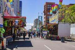 Trillingsritten in beroemd Cinco de Mayo Festival royalty-vrije stock foto's