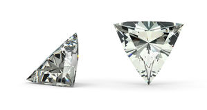 Trillion Cut Diamond Royalty Free Stock Photography
