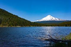 Trillium湖和胡德山 图库摄影