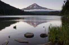 Calm Still Dusk Trillium Lake Mt Hood Oregon Royalty Free Stock Photography