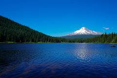 At The Base of Mount Hood. Trillium Lake at the base of Mount Hood in Oregon is a must see if your in the area Royalty Free Stock Images