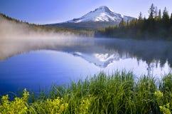 Trillium lake view at sunrise Royalty Free Stock Photography