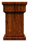 Träillustration för podium 3D Royaltyfria Bilder