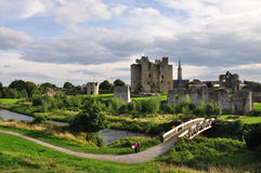 Trim Castle. (Trim, County Meath, Ireland) on the banks of the Boyne River in County Meath, is the largest Anglo-Norman Castle in ireland and was used as Royalty Free Stock Images
