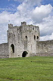 Trim Castle. Sits in the Boyne Valley in the Irish town if Trim, County Meath Southern Ireland stock photography