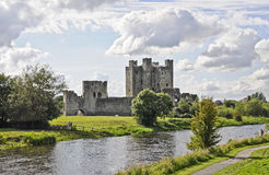 Trim Castle. Was the location of the film Braveheart. In the Irish town of Trim county Meath Southern Ireland stock image