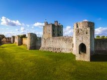 Trim Castle. county Meath. Ireland. Aerial view. Ruins of Trim Castle ,  Anglo-Norman keep. county Meath. Ireland Royalty Free Stock Photos