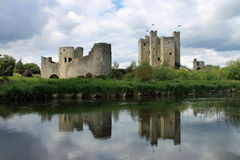 Trim Castle Reflection. The medieval castle at Trim, County Meath, Ireland Royalty Free Stock Image