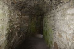 Trim Castle Tunnel. It is difficult to comprehend the historical and architectural importance of Trim Castle without a personal visit. Trim Castle is a fantastic Royalty Free Stock Photography