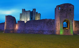 Trim Castle at Twilight Stock Photo