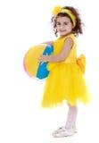 Trim little dark-haired girl Stock Image