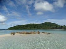 Trimaran bij paradijs tropisch eiland, Coron, Filippijnen stock afbeelding