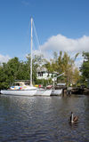 Trimaran at the Everglades, Florida, USA Royalty Free Stock Photo