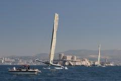 trimaran sailing gitana 11 12 Стоковое Изображение RF