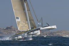 trimaran sailing gitana 12 Стоковая Фотография