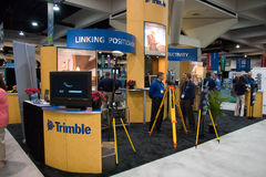 Trimble vendor at the ESRI user conference. SAN DIEGO, JUNE 18: Trimble vendor at the ESRI international user conference which is held annually and is the stock image