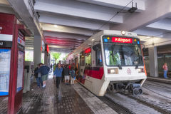 TriMet Max Train Portland Oregon immagini stock
