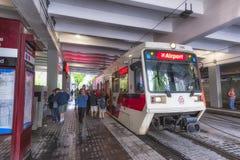 TriMet Max Train Portland Oregon stock images
