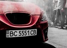 Trimma bilen på EMMA 2013 i Lviv Fotografering för Bildbyråer