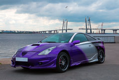 Trimma den Japan bilen Toyota Celica GT på den auto showen Royaltyfri Bild