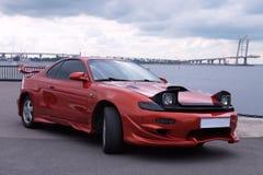 Trimma den Japan bilen Toyota Celica på den auto showen Arkivfoto