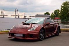 Trimma den Japan bilen Toyota Celica på den auto showen Royaltyfri Bild