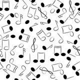 trimmar seamless symboltextur för den musikaliska anmärkningen Royaltyfria Bilder