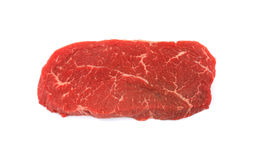 Trimmed Steak. View of a trimmed boneless beef chuck steak Royalty Free Stock Photography