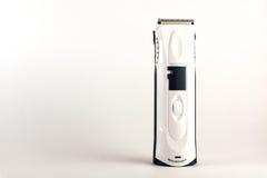 trimmer getrennt auf Weiß Hygieneprodukte für Männer Stockbild