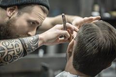 Free Trimming Beard In Barbershop Stock Photo - 80647560